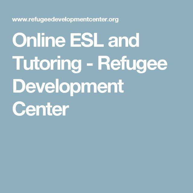 Online ESL and Tutoring - Refugee Development Center