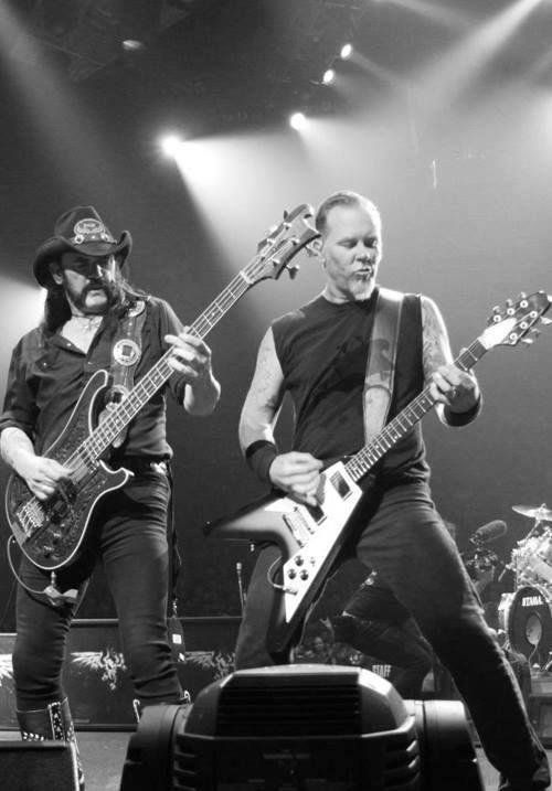 Lemmy Kilmister (Motorhead) & James Hetfield (Metallica)