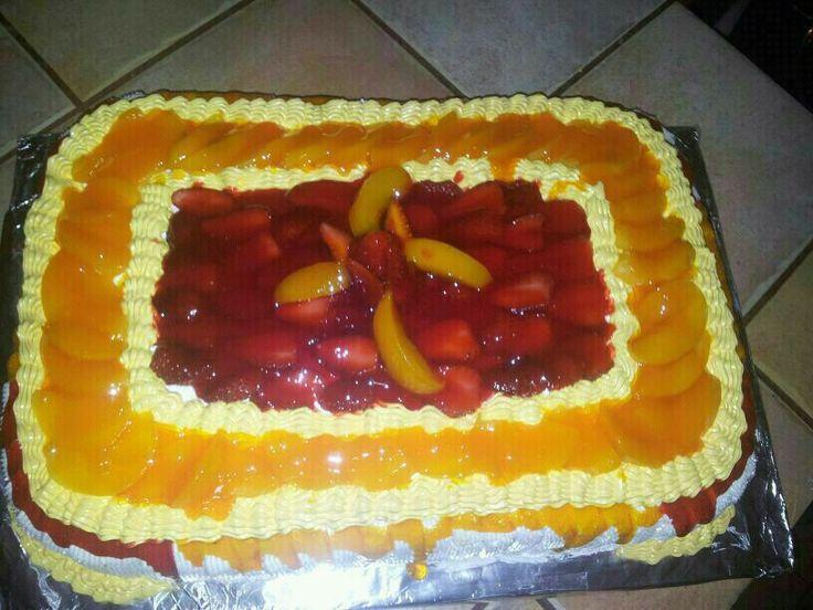 Queque con frutas y gel de sabores!!