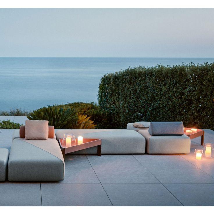 DEDON BRIXX Outdoor Loungegruppe, Gartensofa Loungemodule DEDON - designer gartensofa indoor outdoor