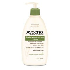 The best body moisturizer. Aveeno Daily Moisturizing Lotion, it lasts a good 24 hours. Love it!