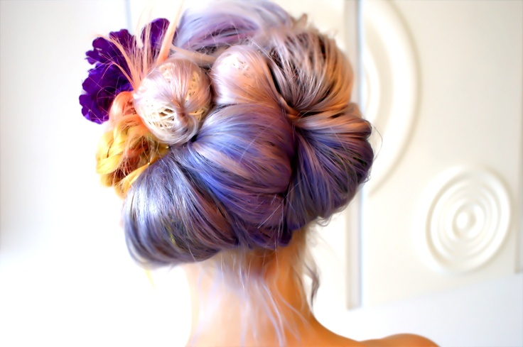 Hair Up Creative colorful texture