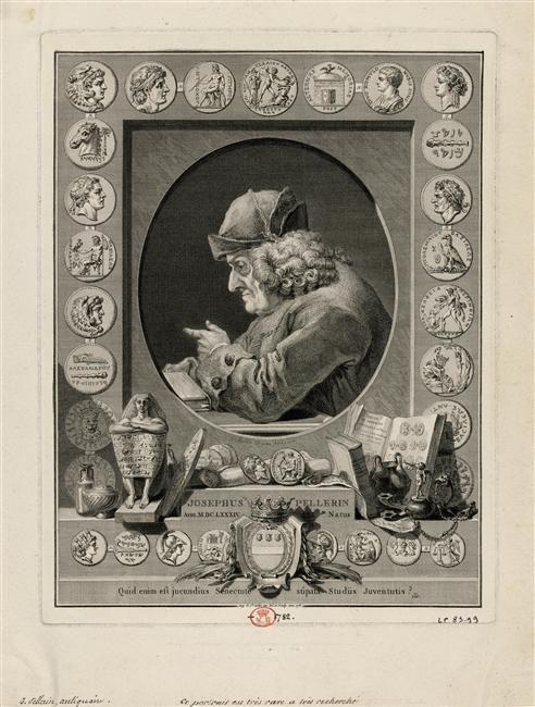 Augustin de Saint-Aubin, Jean Guillaume Boichot | Joseph Pellerin, seigneur de Plainville (1684-1782), antiquaire, numismate | 1781