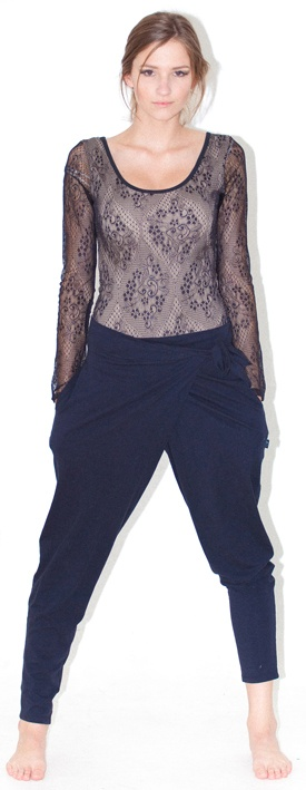 lace body stocking wrap pants - fully lined lace body stocking stud fasteners at crotch, great with a rouge skirt for a formal look, or jeans for a casual look: versatile Limited run of this item: order early