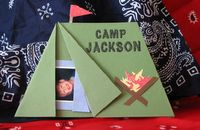 Camping party invite or thank you