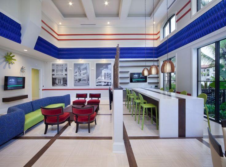 Enjoy the clublroom which as TV's, a bar area, and poker table at AMLI Miramar Park, brand new Miramar, Florida apartments!