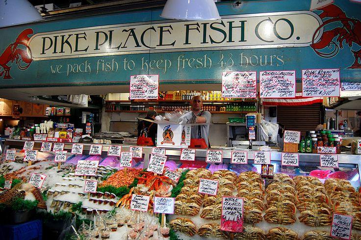 Pike Place Fish Market, Seattle, Washington -- CATCH!