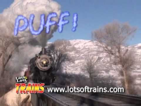 """IT's a fun music video based on """"The Wheels on the Bus"""" Song only it's """"The Wheels on the Train Song!!!!""""  A big favorite!"""