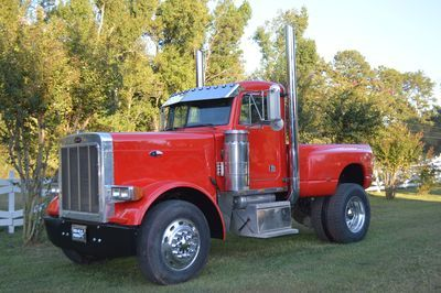 "1994 Peterbilt 379 ""PICKUP"" Truck, Long Nose with 475-500 3406B Caterpillar Turbo Engine with EATON Transmission, 6"" Straight Pipes, Truck has Air Brakes, Jake Brakes, Air Ride, Air Adjustable seats with 24.5 Alcoa Wheels all the way around with TOYO Back  & YOKOHAMA Front Tires, all in excellent condition, Dual Stainless Steel Air Breathers, Cobra Radio, Pioneer Radio, Viper red, led lighting, Visor with led, Bed is a New Model Dodge 4x4 streamlined step side with Sprayed on corrugated…"