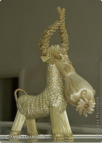 Скульптура Плетение Плетение из соломки  Соломка фото 4