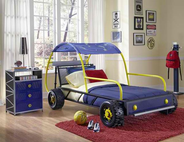 Ideal Zoom with Style in Car Themed Bedroom for Your Boys
