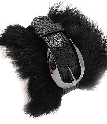FUR LEATHER BUCKLE$13 bozzdiva.com BRACELET|Bozz Diva Boutique