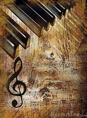 Fundo da música do vintage