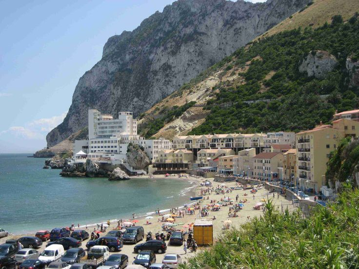 Catalan Bay on the east side of the peninsula has Gibraltar's favorite beach.