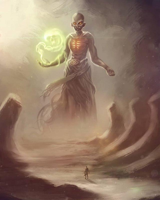 Kalunga - god of the underworld in African mythology.  #african #illustration #art #character #digitalart #fantasyart #desert #mythology #magic #darkness #death