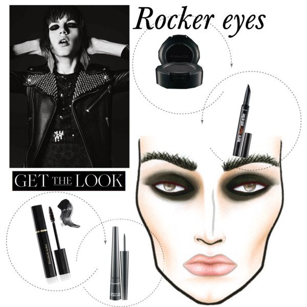 """One of my everyday looks ;;p """"Get The Look: Rocker eyes."""" by shadowofday on Polyvore"""