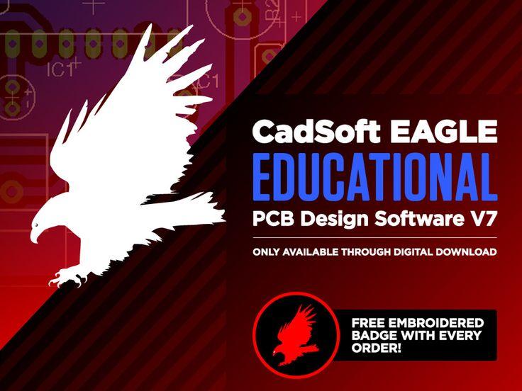 CadSoft EAGLE Standard PCB Design Software V7 - .EDU - 1 User