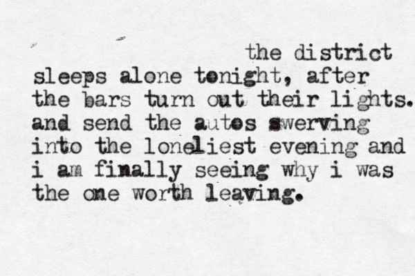 the district sleeps alone tonight - postal service