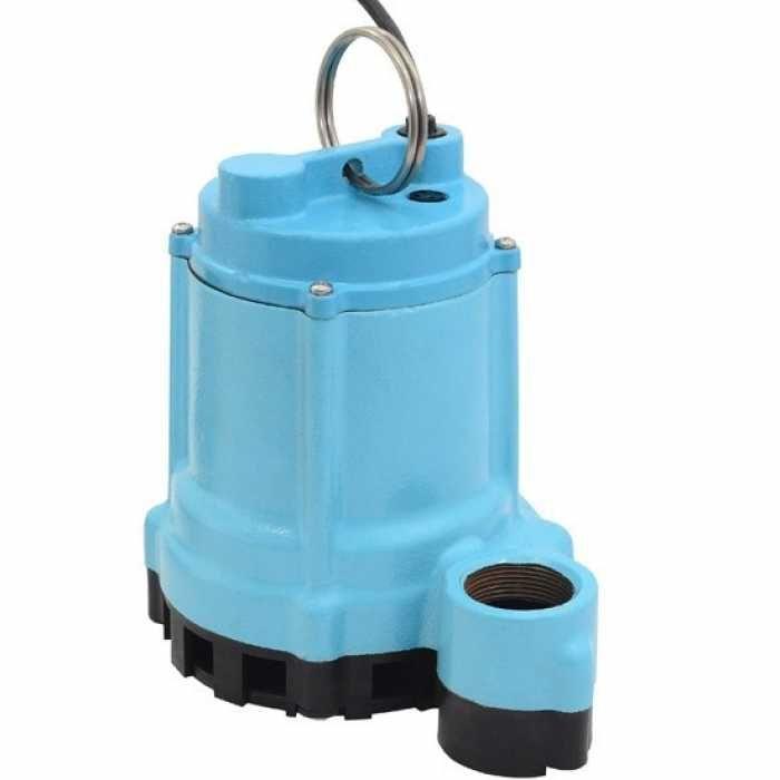 """509207 Little Giant 9EN-CIM, 4/10 Hp Manual Sump/effluent Pump, 20"""" Cord, 110v ~ 120v"""