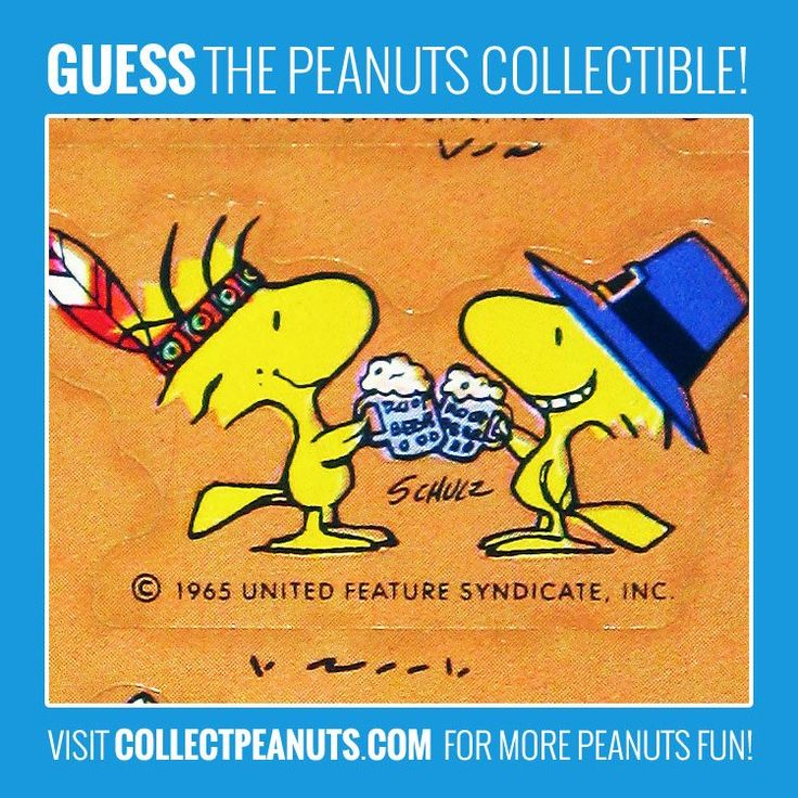 Root Beer Buddies! Guess the Woodstock collectible in today's Peanuts Puzzler! Visit CollectPeanuts.com for the answer.