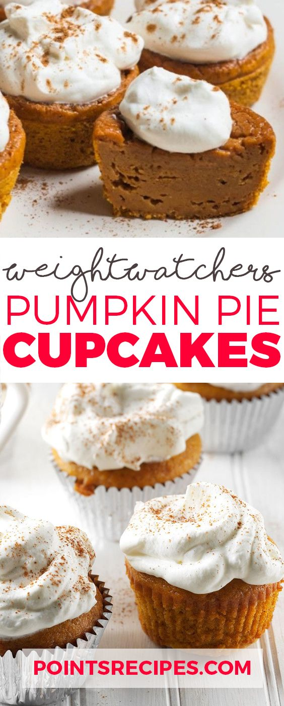 Pumpkin Pie Cupcakes (Weight Watchers SmartPoints)