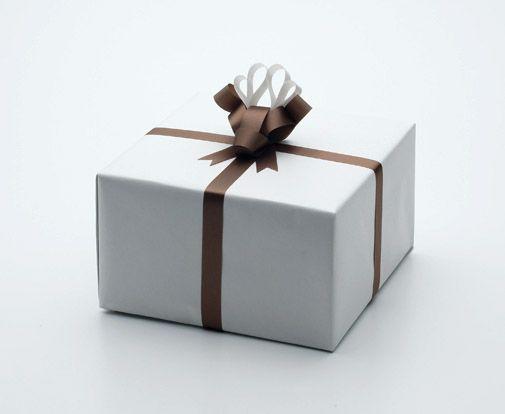 Emballage cadeau original rubans