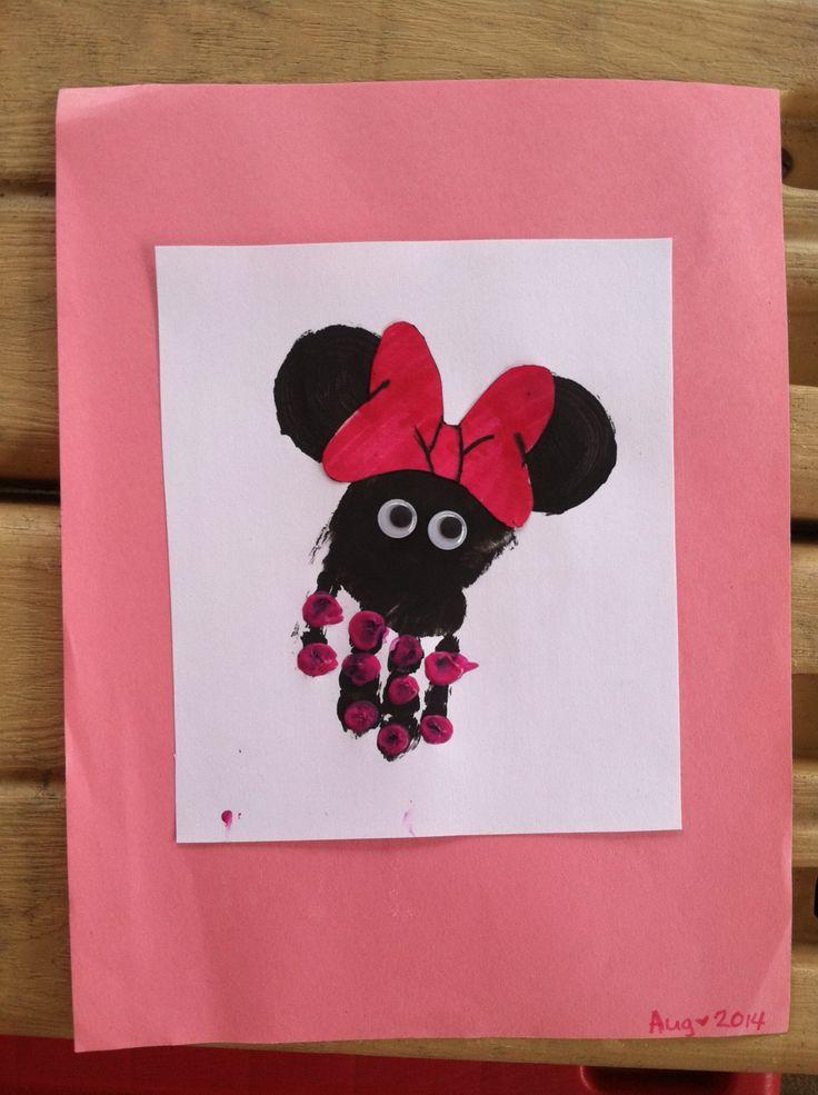 Minnie Mouse handprint art