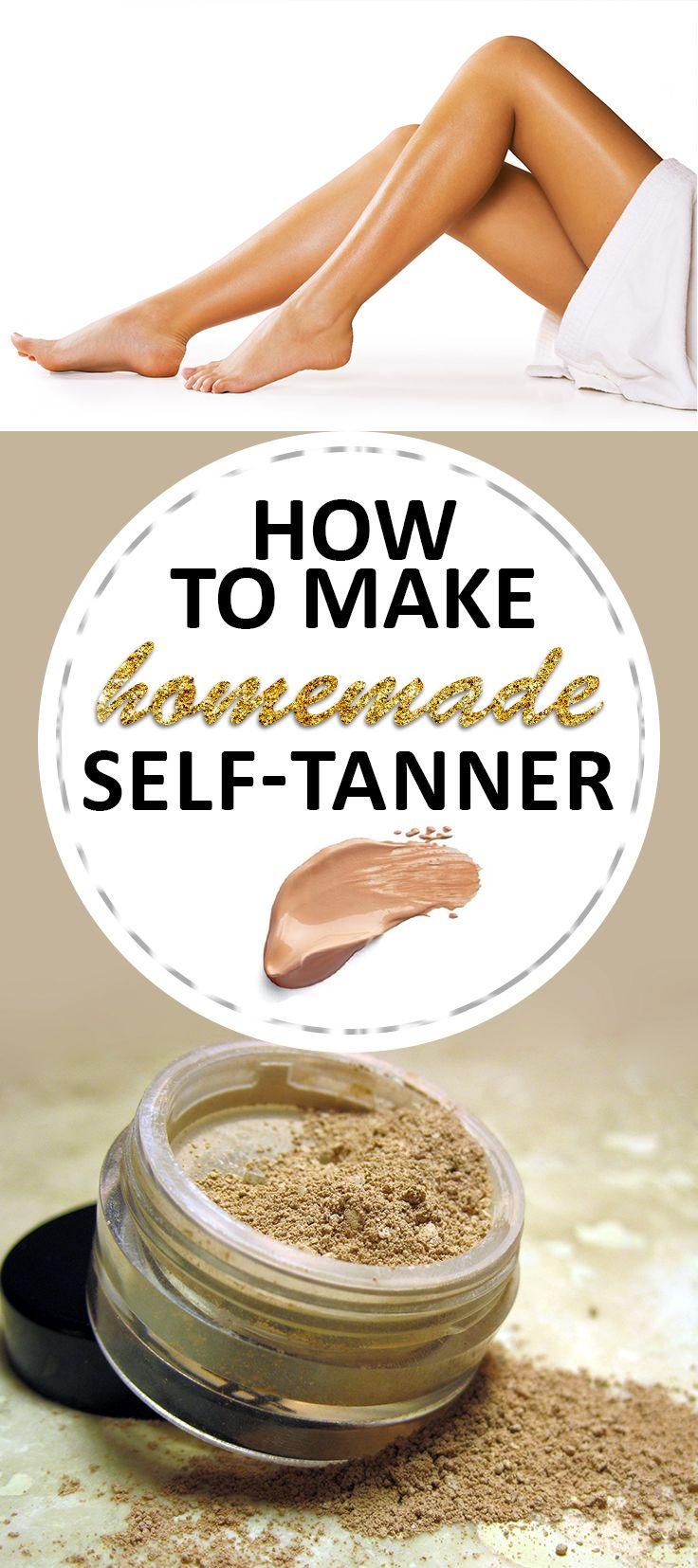 I did a little research and found an amazing self tanner that works wonders! It looks natural, and it's very easy to do! Turn that pale skin of yours into a beautiful summer tan! Check this out!