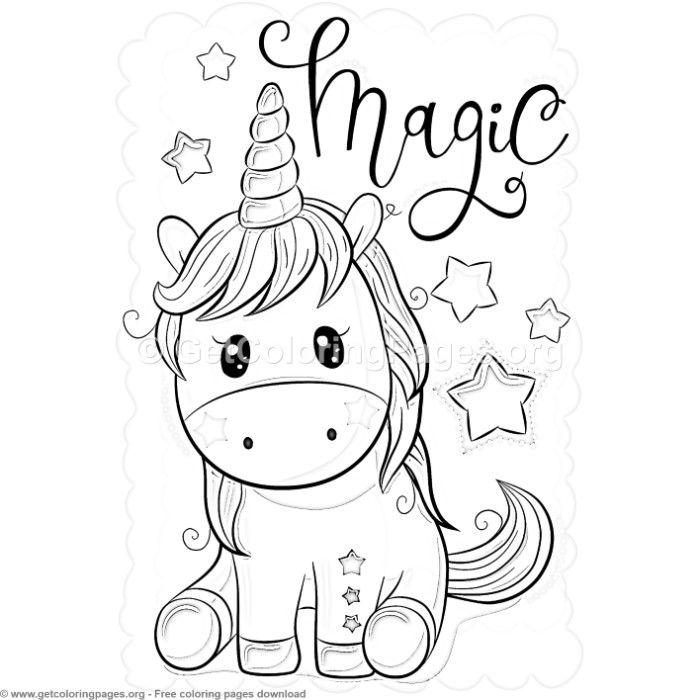 27 Cute Cartoon Unicorn Coloring Pages | Unicorn coloring ...