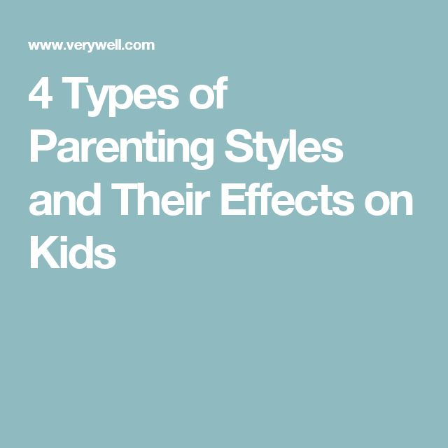 effects of different parenting styles The apparent effects of permissive parenting what if two parents disagree, and adopt different parenting styles some people wonder about consistency.