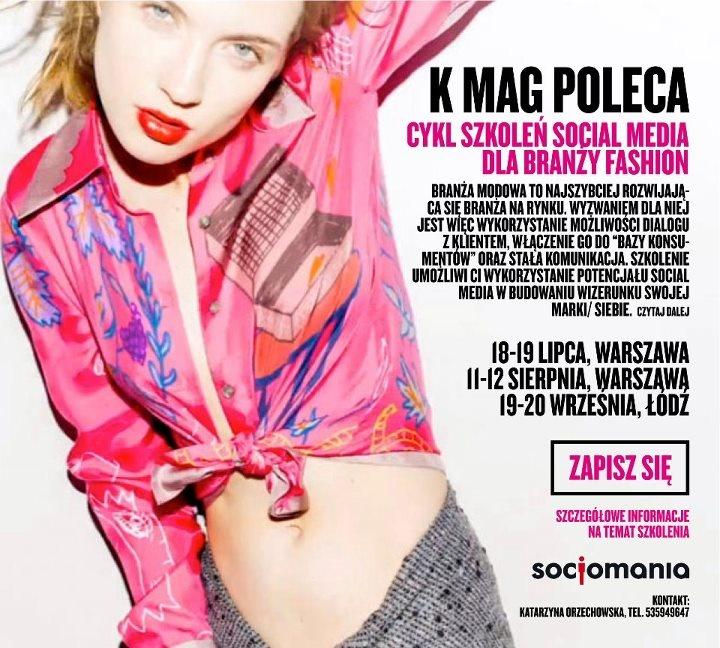 #Szkolenie #socialmedia dedykowane branży #moda #fashion . Socjomania.pl