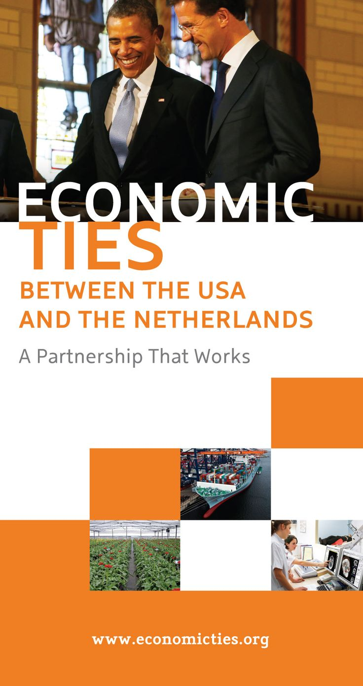 Economic ties infographic shows the strength of the trade relations between the US and the Netherlands