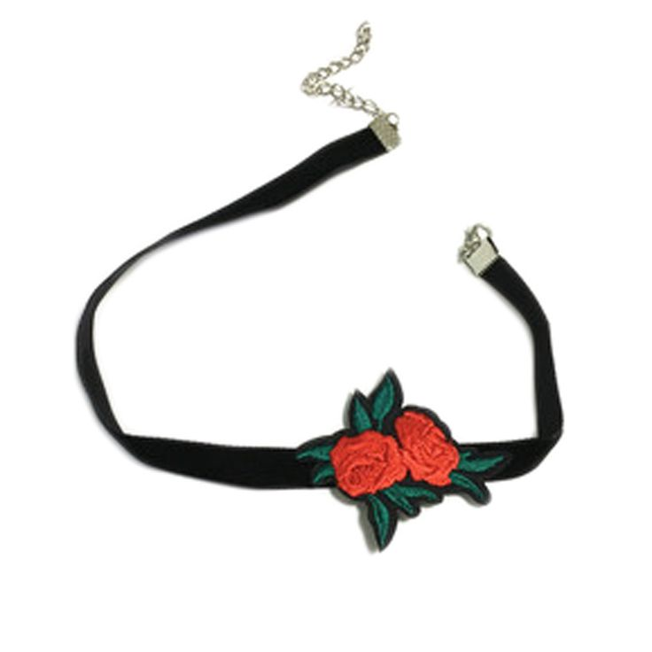 Cheap choker necklace black, Buy Quality choker necklace directly from China necklaces for women Suppliers: Trendy Embroidered Rose Flower Chokers Necklaces black Chokers Unique  necklace for Women jewelry NL2111