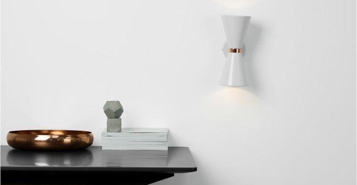 Ogilvy, applique murale, gris clair mat et cuivre | made.com