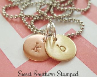 Hand Stamped Initial Necklace - Great for Mom & Grandma! - Edit Listing - Etsy