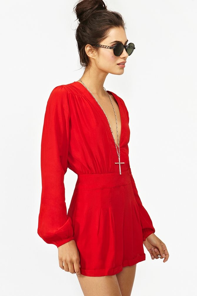\\\Red Rompers, Jet Rompers, Motel Jet, Fashion Dresses Summer, Summer Rompers Outfit, Red Clothing, Red Dresses Outfit, Nasty Gal, Summer Dresses Shorts