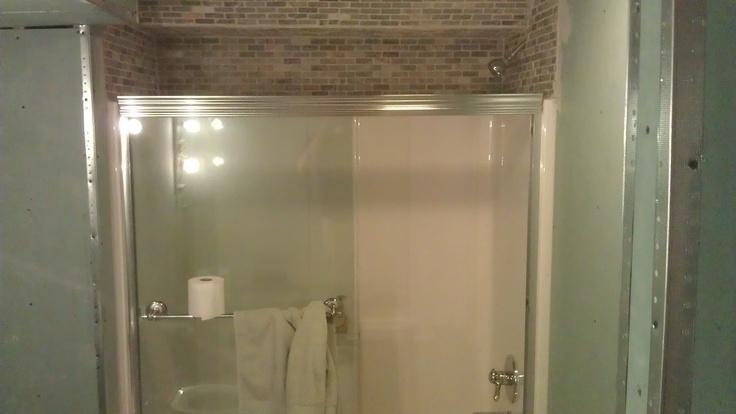 tile above shower surround bathroom pinterest bath tubs projects and showers. Black Bedroom Furniture Sets. Home Design Ideas