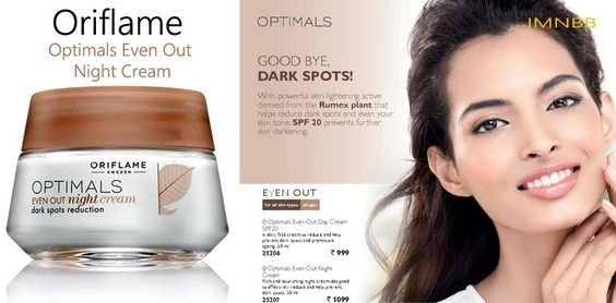 Oriflame Optimals Even Out Night Cream Review: http://www.makeupandbeauty.in/product-review/oriflame-optimals-even-out-night-cream-review/