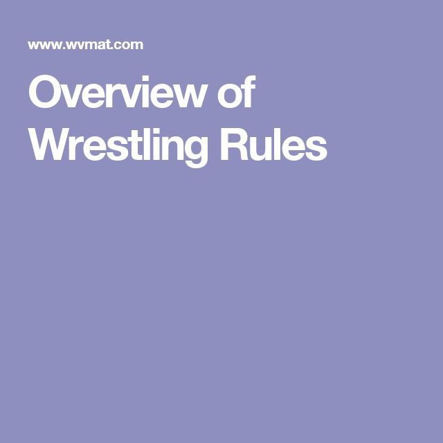 Overview of Wrestling Rules
