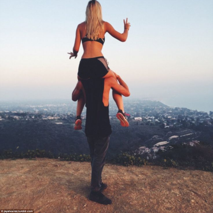 The fun-loving couple take a lot of shots of themselves enjoying the amazing views across ...