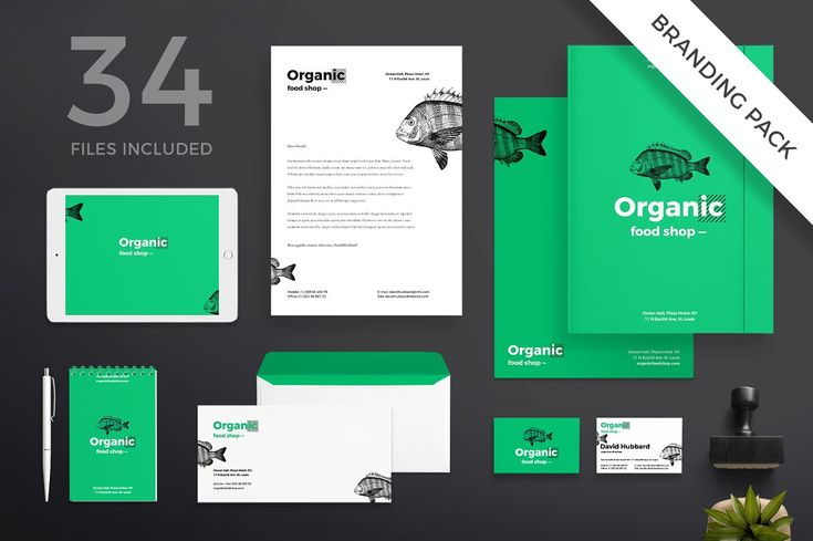 FREE FOR NOW! Branding Pack | Organic Food Shop  - Amber Graphics. Have some organic business ideas? Use full branding template with all you may need: poster, flyer, letter, business card.