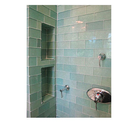 Shower Tiled With 100 Post Consumer Bottles Collected