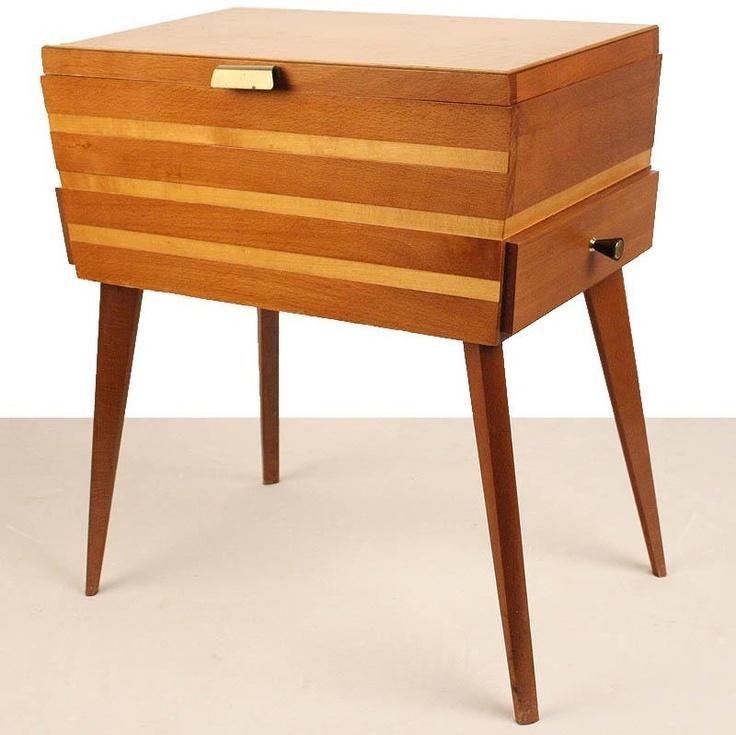 sewing storage box. on pointy legs. rad.