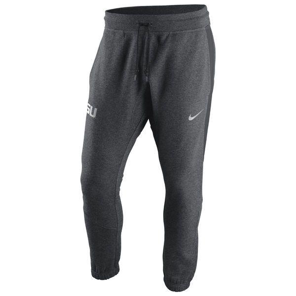 LSU Tigers Nike Hybrid Fleece Cuffed Jogger Pants - Heather Gray - $56.99