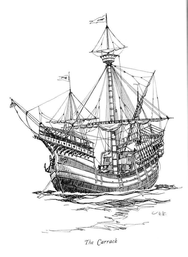 Картинка чертежа корабля