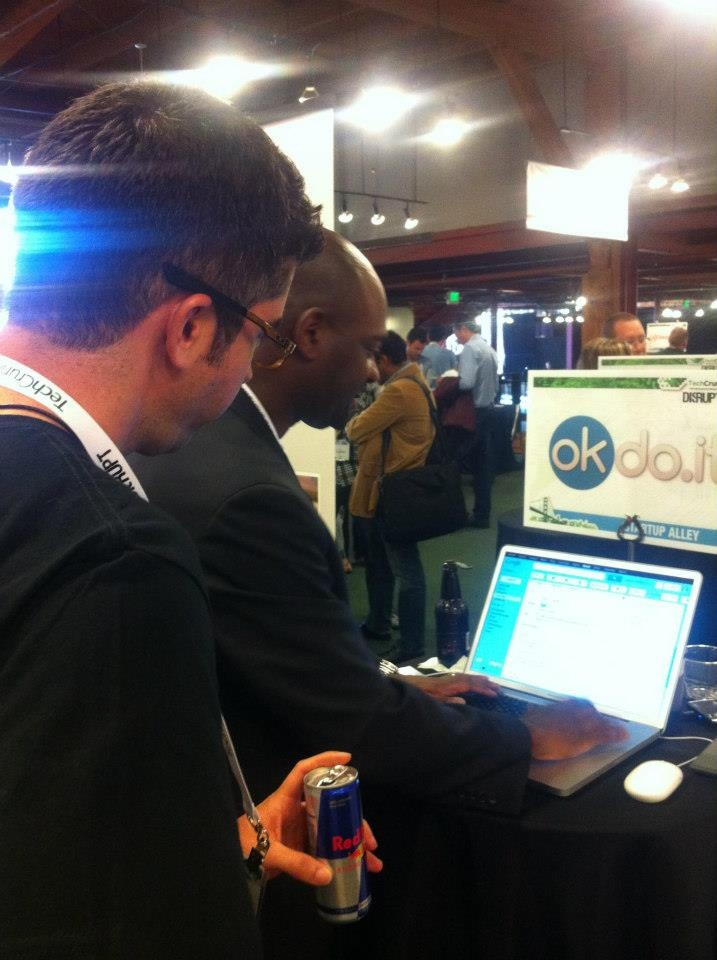 Khalil Malik, CEO of okdo.it ~ Showing a Demo at @TechCrunch #Disrupt SF 2012: Okdoit