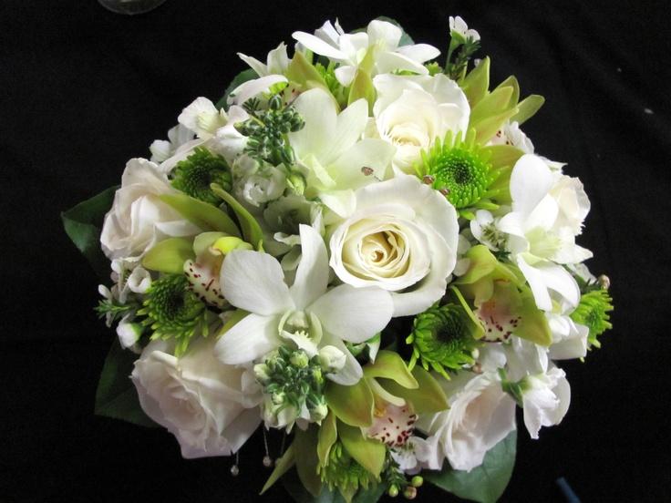 White Amp Green Bridal Bouquet Carolynsfloraldesigns