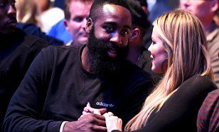 Khloe Kardashian and James Harden pack on the PDA at UFC 192 | Daily Mail Online