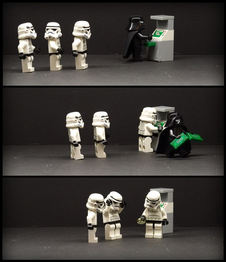 Pay Day by Jamerco | LEGO Star Wars Stormtrooper & Darth Vader Minifigs