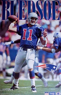 RARE Drew Bledsoe - New England Patriots - I've have this poster hanging in my room in NY since I was 9 years old.
